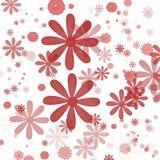 Fondo floreale rosso Fotografia Stock Libera da Diritti