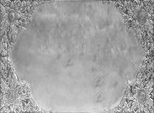 Fondo floreale sporco di alluminio dello strato vecchio Immagini Stock Libere da Diritti