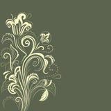 Fondo floreale verde scuro astratto Fotografia Stock Libera da Diritti