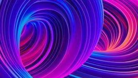 fondo fluido astratto 3D con le forme liquide olografiche nel moto illustrazione vettoriale