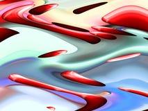 Fondo fluido blu rosso delle geometrie, grafici, fondo astratto e struttura illustrazione di stock
