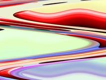 Fondo fluido giallo rosa blu rosso delle geometrie, grafici, fondo astratto e struttura illustrazione vettoriale