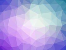 Fondo a forma di del poligono blu porpora astratto di pendenza Fotografia Stock