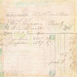 Fondo francés de la escritura del recibo de la factura de la vendimia imagen de archivo libre de regalías