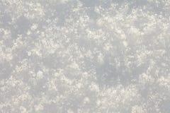 Fondo fresco de la superficie de la nieve, lleno-marco Fotografía de archivo