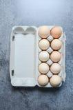 Fondo fresco de los huevos Foto de archivo