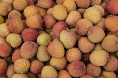 Fondo fresco del lychee. Fotos de archivo
