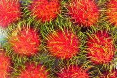 Fondo fresco del Rambutan immagini stock