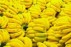 Fondo fresco di giallo della banana Fotografia Stock