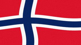 Fondo fresco variopinto allegro ballante d'ondeggiamento del ciclo della bandiera della Norvegia di nuovo moto dinamico animato u archivi video