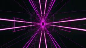 fondo fucsia del movimiento de Loopable del túnel del estilo de 3D Tron libre illustration