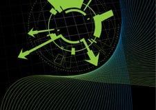 Fondo futurista ilustración del vector