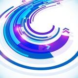 Fondo futurista abstracto azul del vector de curva Fotografía de archivo