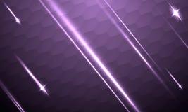 Fondo futurista abstracto con las estrellas fugaces en la textura Foto de archivo libre de regalías