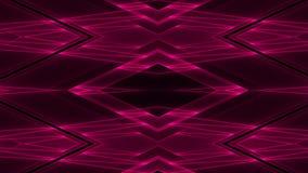 Fondo futurista abstracto de la ciencia ficción con formas geométricas que brillan intensamente coloreadas rojas stock de ilustración