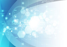 Fondo futurista abstracto de la tecnología digital vector del ejemplo