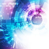 Fondo futurista abstracto de la tecnología digital vector del ejemplo Imagen de archivo