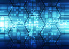 Fondo futurista abstracto de la tecnología digital vector del ejemplo Imágenes de archivo libres de regalías