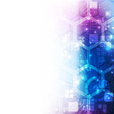 Fondo futurista abstracto de la tecnología digital vector del ejemplo Imagen de archivo libre de regalías