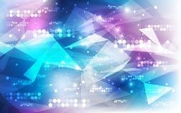 Fondo futurista abstracto de la tecnología digital vector del ejemplo Fotos de archivo