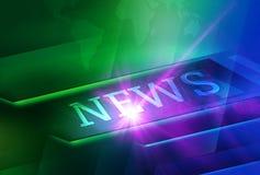 Fondo futurista abstracto de las noticias stock de ilustración