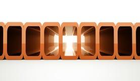 Fondo futurista anaranjado Foto de archivo libre de regalías