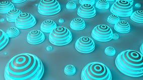Fondo futurista azul de las esferas Stock de ilustración