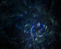Fondo futurista azul del espacio del fractal Fotografía de archivo libre de regalías
