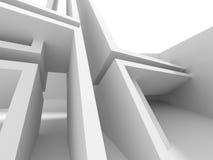 Fondo futurista de la arquitectura con el modelo de la raya Fotografía de archivo