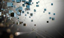 Fondo futurista de la ciencia y del concepto de la tecnología illustra 3D ilustración del vector