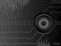 Fondo futurista de la música Foto de archivo libre de regalías