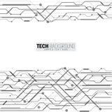 Fondo futurista de la placa de circuito del extracto del ejemplo del vector Fotos de archivo