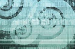 Fondo futurista de la tecnología stock de ilustración