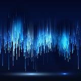 Fondo futurista de la tecnología de la matriz abstracta de la ciencia ficción Imagen de archivo