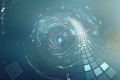 fondo futurista del disco del partido del extracto 3D Imagen de archivo libre de regalías