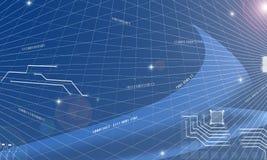 Fondo futurista del extracto del circuito del flujo de datos de la electrónica de la tecnología de la información de Computin de  imágenes de archivo libres de regalías