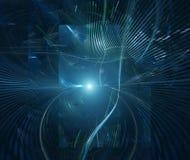 Fondo futurista del extracto de la tecnología ilustración del vector