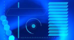 Fondo futurista del extracto de los gráficos del interfaz del holograma de HUD Imagen de archivo libre de regalías