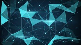 Fondo futurista del polígono de la forma del techno Imágenes de archivo libres de regalías