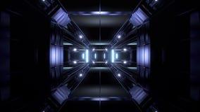 Fondo futurista del vjloop del ejemplo del pasillo 3d del túnel de la ciencia-ficción libre illustration