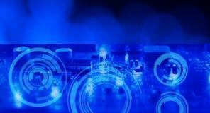 Fondo futurista electrónico de la tecnología Imagen de archivo