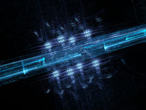 Fondo futurista que brilla intensamente del azul Imagen de archivo libre de regalías
