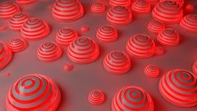 Fondo futurista rojo de las esferas Stock de ilustración