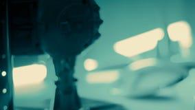 Fondo futurista verde abstracto de las luces de la tecnología metrajes