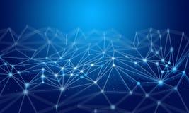 Fondo futuristico astratto con il concetto di tecnologia digitale illustrazione di stock