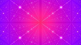 Fondo futuristico astratto con l'illusione dell'infinito con molti punti rappresentazione 3d illustrazione di stock
