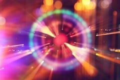 fondo futuristico astratto della fantascienza Chiarore della lente l'immagine di concetto di spazio o il tempo scruta le luci int fotografie stock