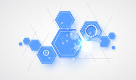 Fondo futuristico astratto di affari di tecnologie informatiche Fotografie Stock