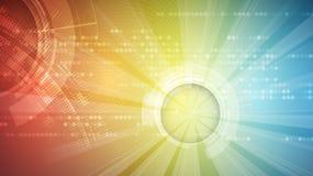 Fondo futuristico astratto di affari di tecnologie informatiche Immagine Stock