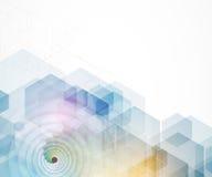 Fondo futuristico astratto di affari di tecnologie informatiche Fotografia Stock Libera da Diritti